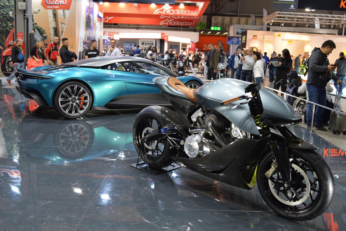 Brough Superior and Aston Martin joined forces for a very special display at the EICMA show