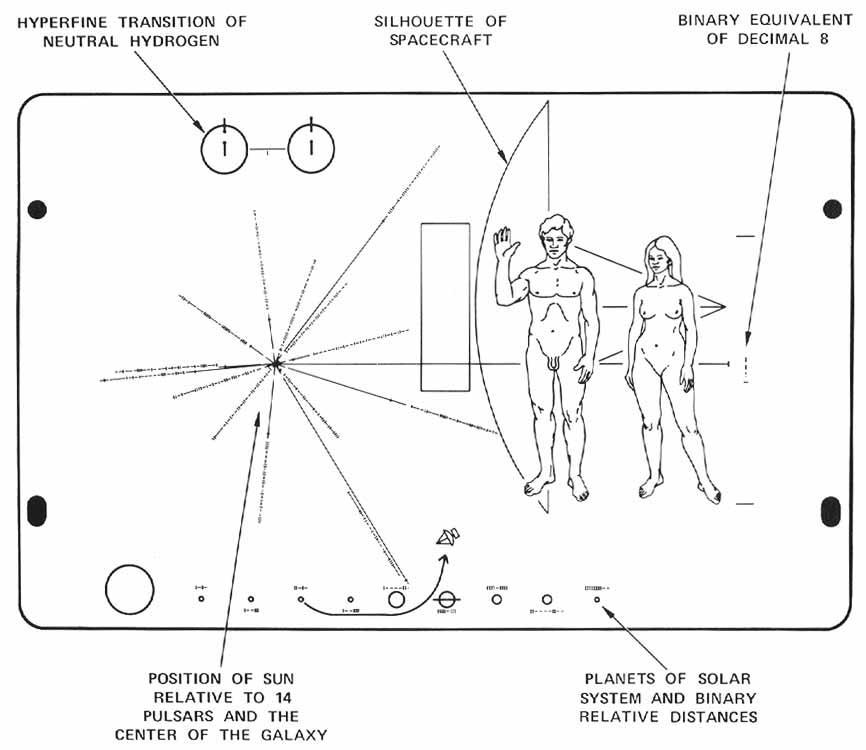 Diagram of the Pioneer plaque