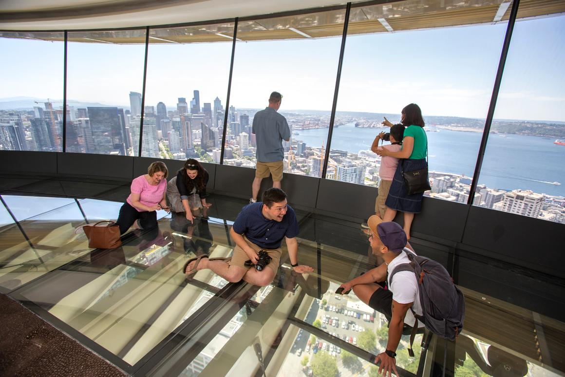 Seattle's iconic Space Needle tower gets a revolving glass floor