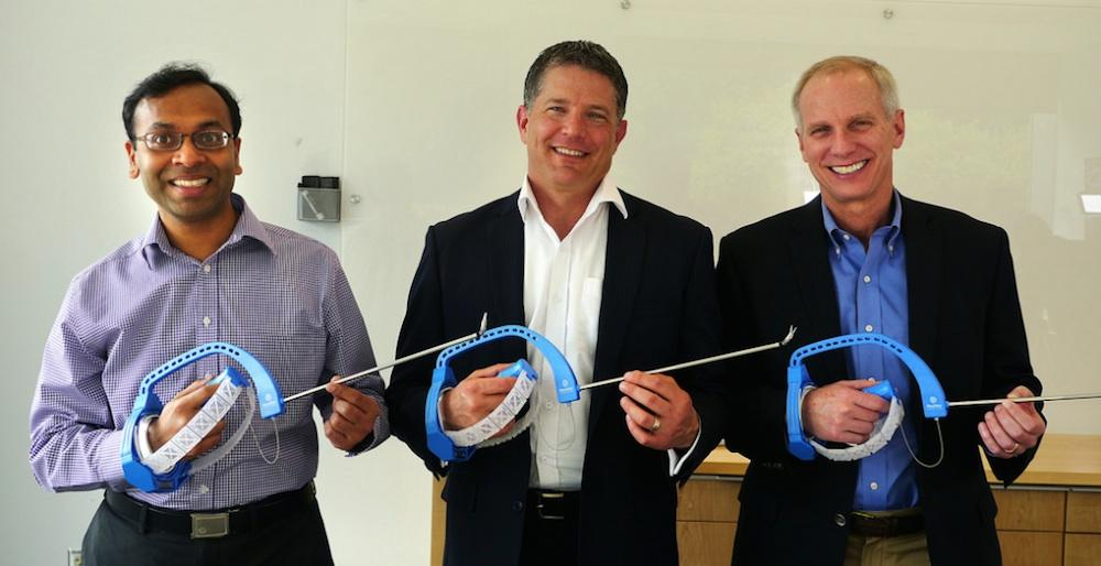 FlexDex founders (from left), Shorya Awtar, Greg Bowles and James Geiger
