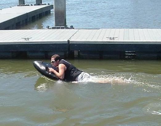 The Kymera jetboard is a jet-powered body board