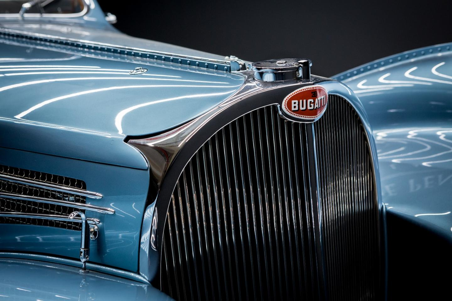 The exquisite lines of the 1936 Bugatti Type 57 SC Coupé Atlantic which took top honors in the 2017 Peninsula Classics Best of the Best award in Paris