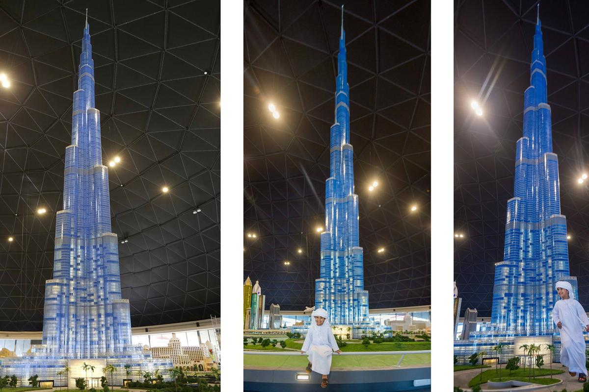 The 56-foot tall Lego Burj Khalifa was constructed using 439,000 pieces, taking a total of 5,000 hours