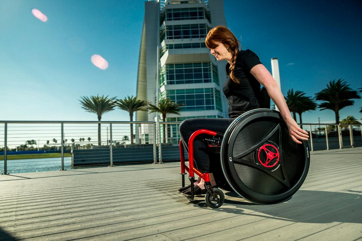Rowheels tech allows wheelchair users to move forward by pulling backward