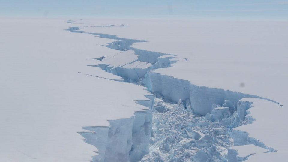 Larsen C iceberg that broke away from Antarctica