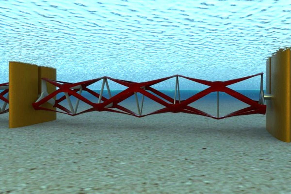 Kepler Energy's Transverse Horizontal Axis Water Turbine (THAWT) uses a stressed truss configuration