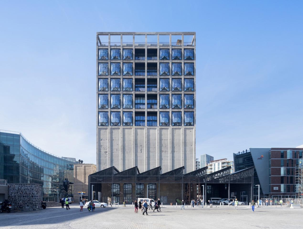 The Zeitz MOCAA building houses a museum and a luxury hotel
