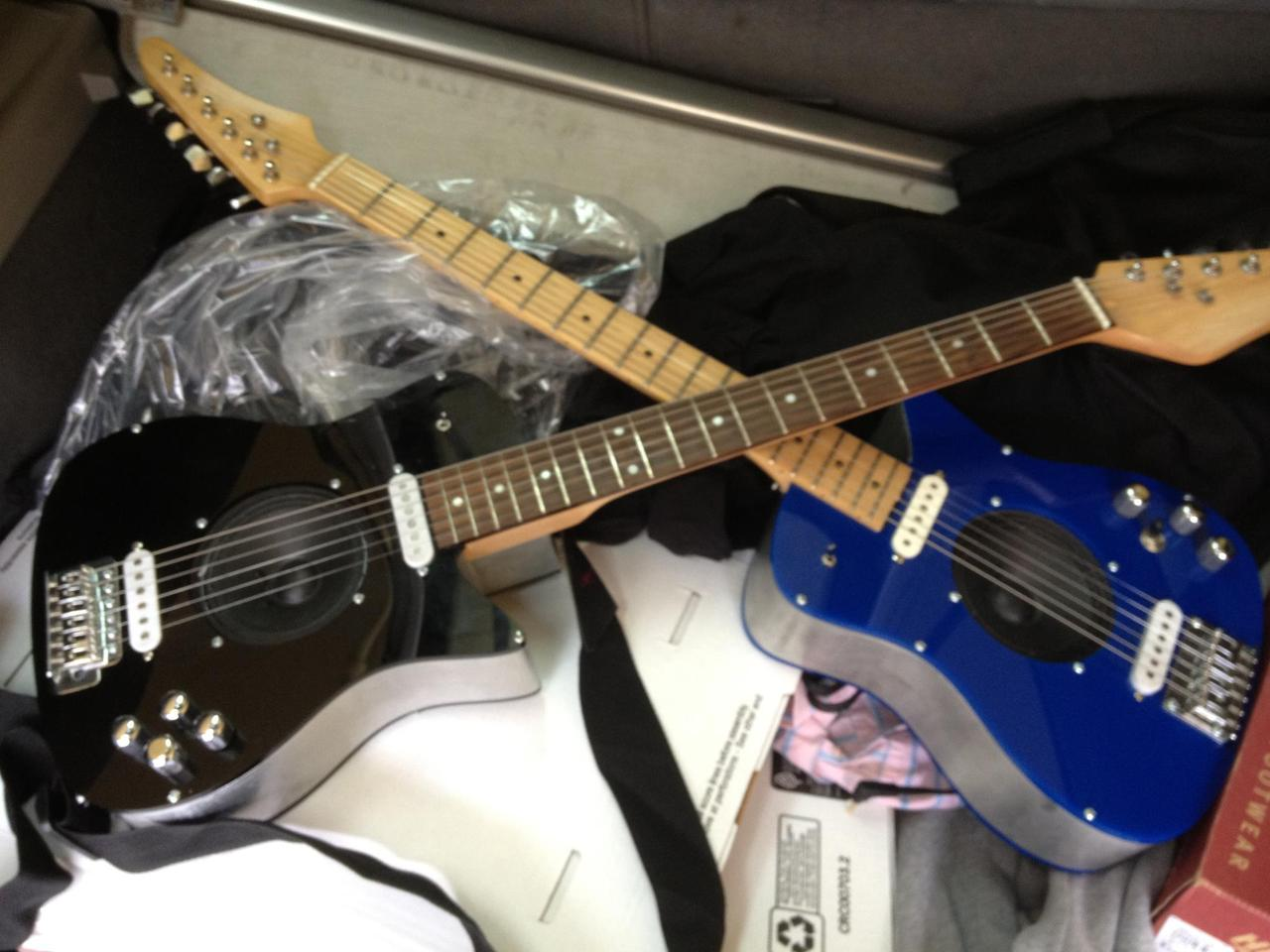 Black Unlimited with Rosewood fingerboard and blue edition with Maple