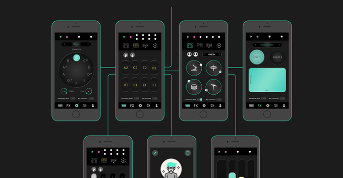 The GripBeats app translates mid-air gestures into triggers and commands