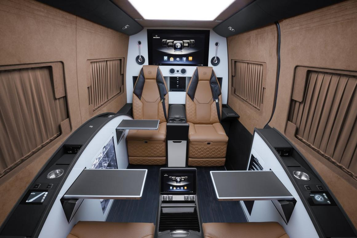 The Brabus Business Lounge gives the Mercedes Sprinter a thorough cabin makeover