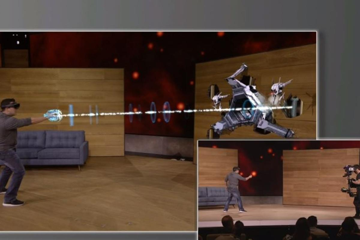 Mixed reality gaming takes over the living room via HoloLens