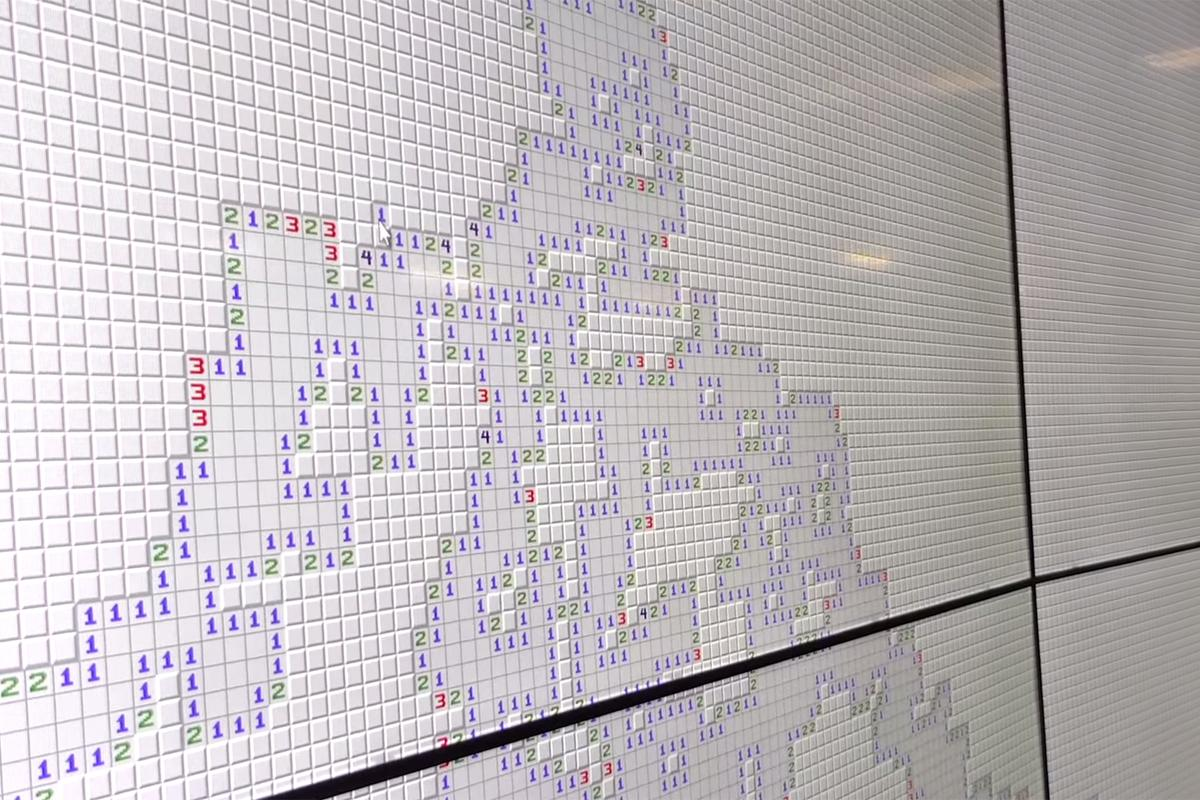 Beating this version of Minesweeper might take more than a little luck