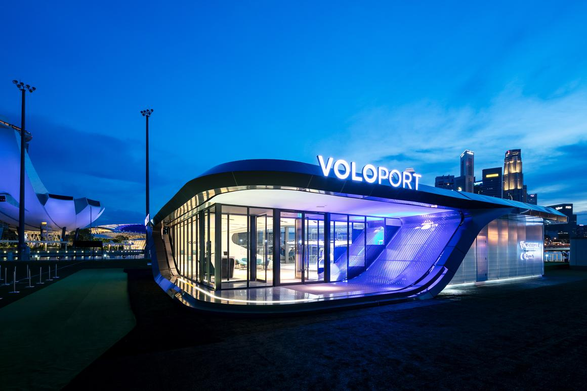 The first prototype VoloPort in Singapore