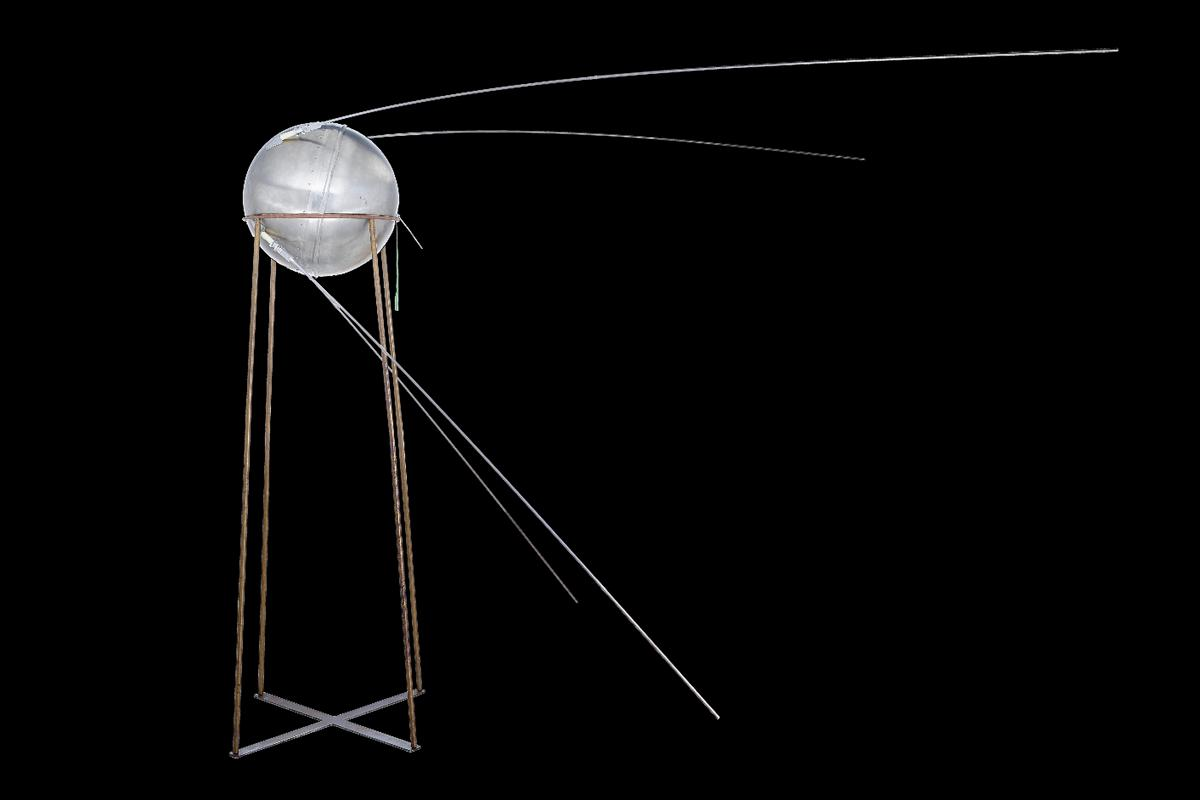 The full scale test model of the Sputnik-1 satellite that is to go to auction