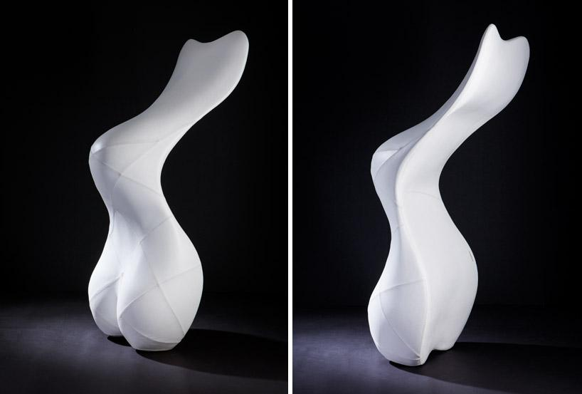 When standing vertically the Bodice Rocker takes on the appearance of a rather shapely sculpture (Photo: Splinter Works)
