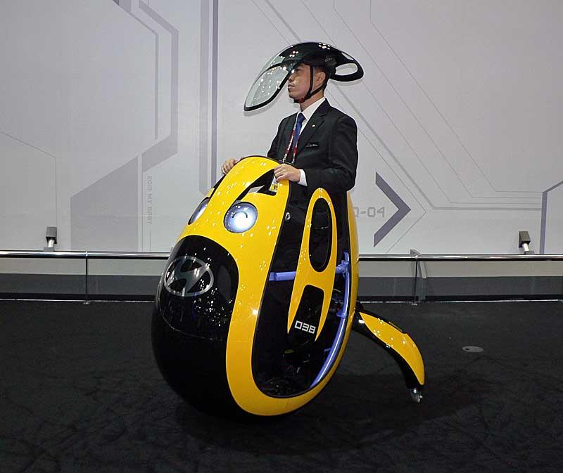 """Hyundai's """"E4U"""" personal mobility vehicle concept unveiled in Seoul (Photo: Nikkei Tech-On)"""