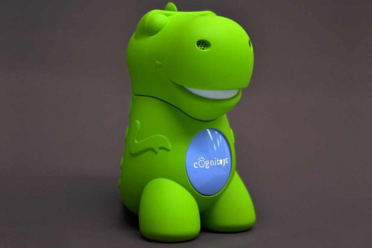 "The Dino is a ""CogniToy"" that wirelessly connects to IBM's Watson computer system"