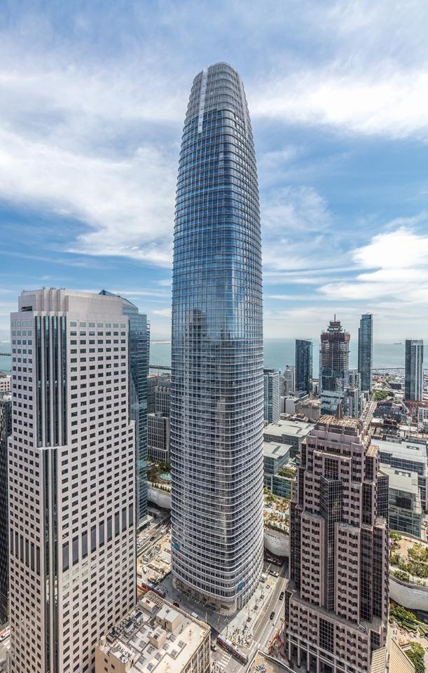 San Francisco's Salesforce Tower was declared the Best Tall Building between 300-399 Meters (984-1,309 ft)