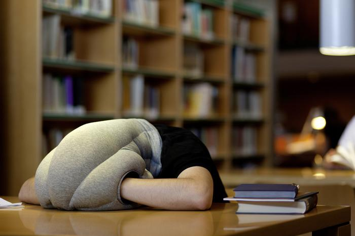 You can nap almost anywhere with the Ostrich pillow