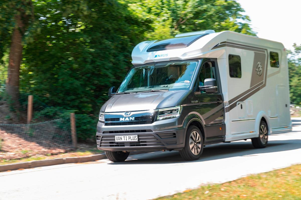 Knaus presents its first MAN TGE-based motorhome, the Van Ti Plus