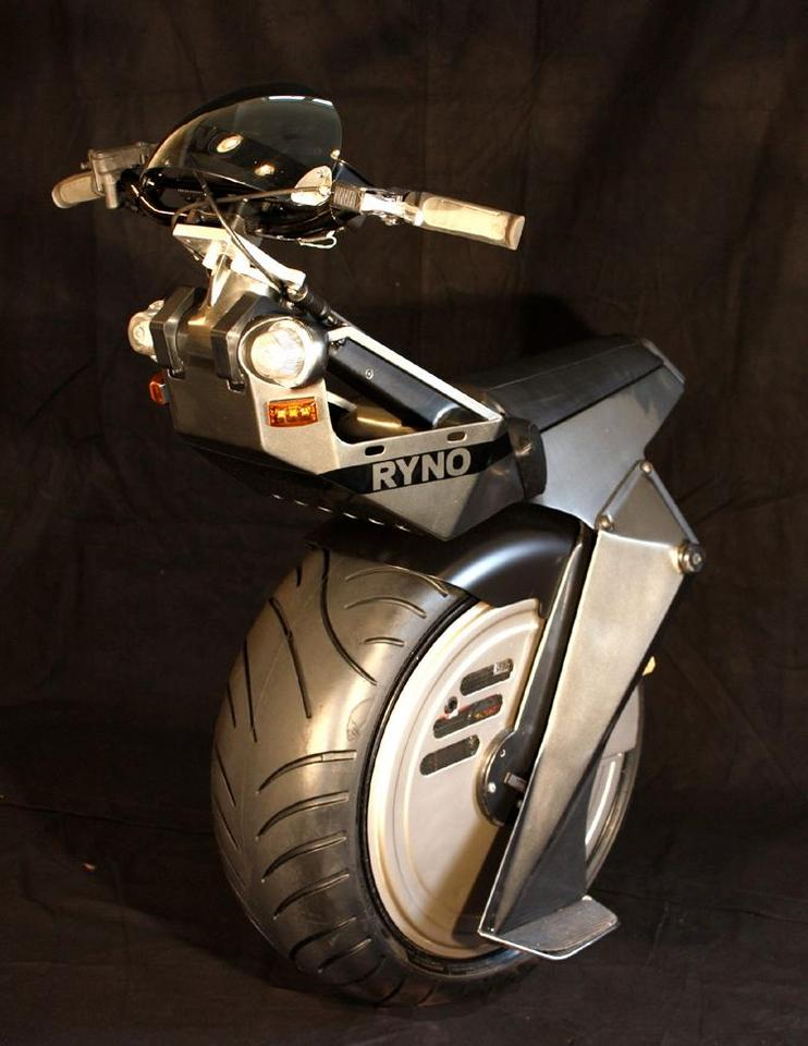 The RYNO is a one-wheeled self-balancing electric personal transportation device, designed for short, low-speed trips