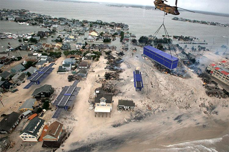 PowerCube is transported as a standard shipping container and can morph into a shelter, water treatment plant and communications base all with a push of a button