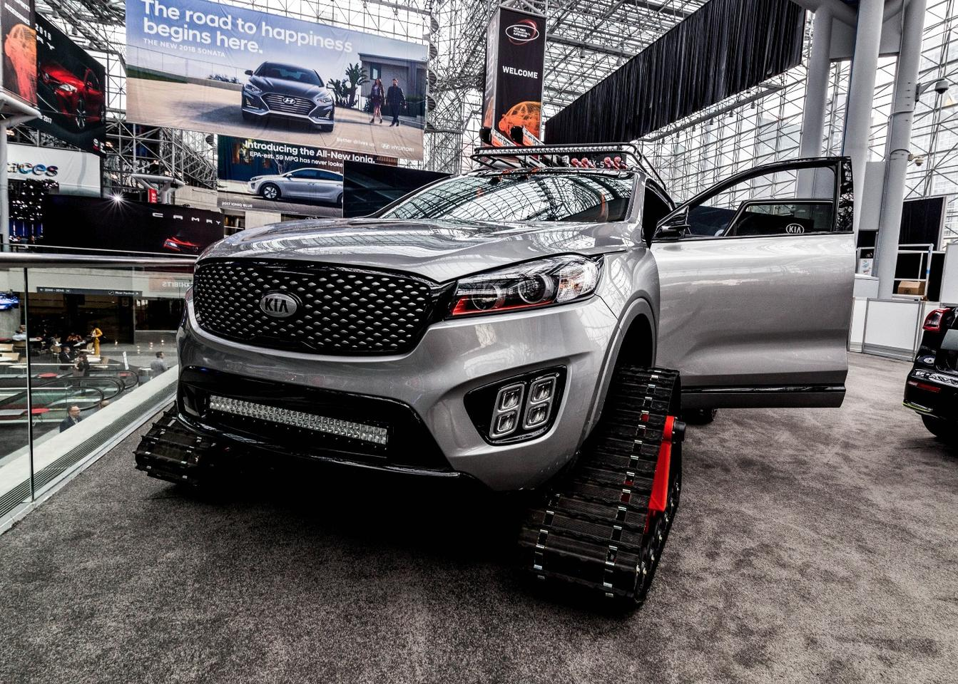 Kia joined the tracks-party with this Sportage in New York