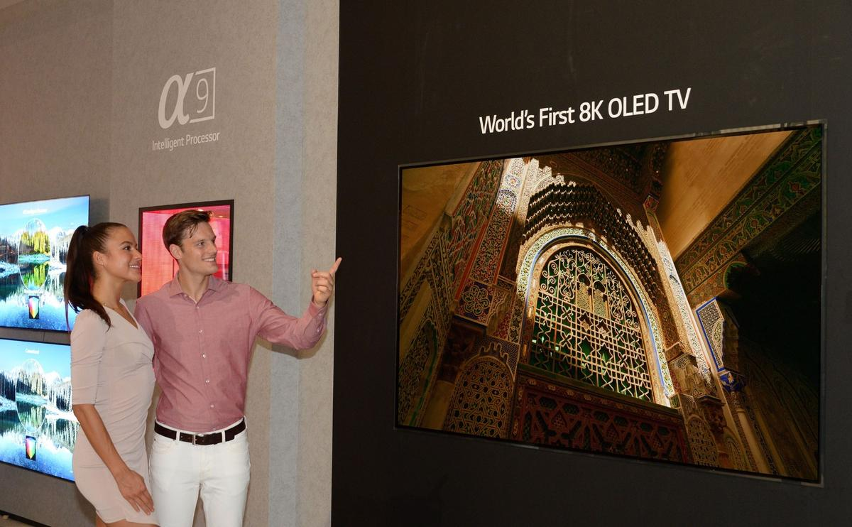 Visitors to IFA 2018 will be able to get up close to LG's 88-inch 8K OLED TV when the doors open to the public this weekend
