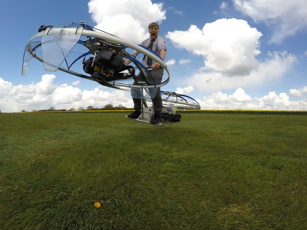 Furze's creation will fly, although it looks terrifyingly close to crashing most of the time