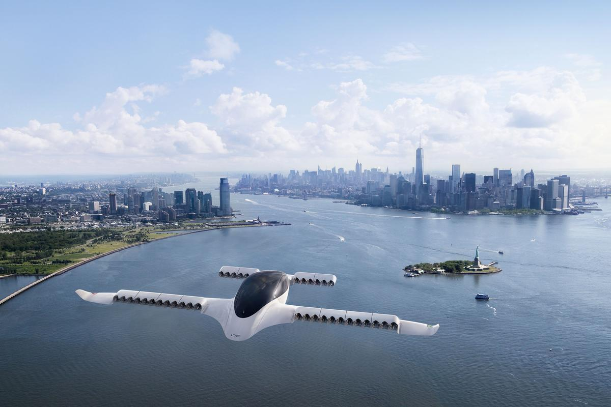 The Lilium eVTOL air taxi design was inspired by the hammerhead shark and manta ray