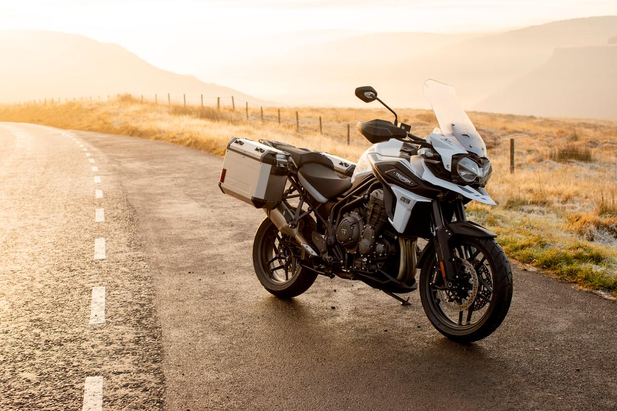 The Tiger 1200 Alpine Edition is conceived as a twisty road tourer