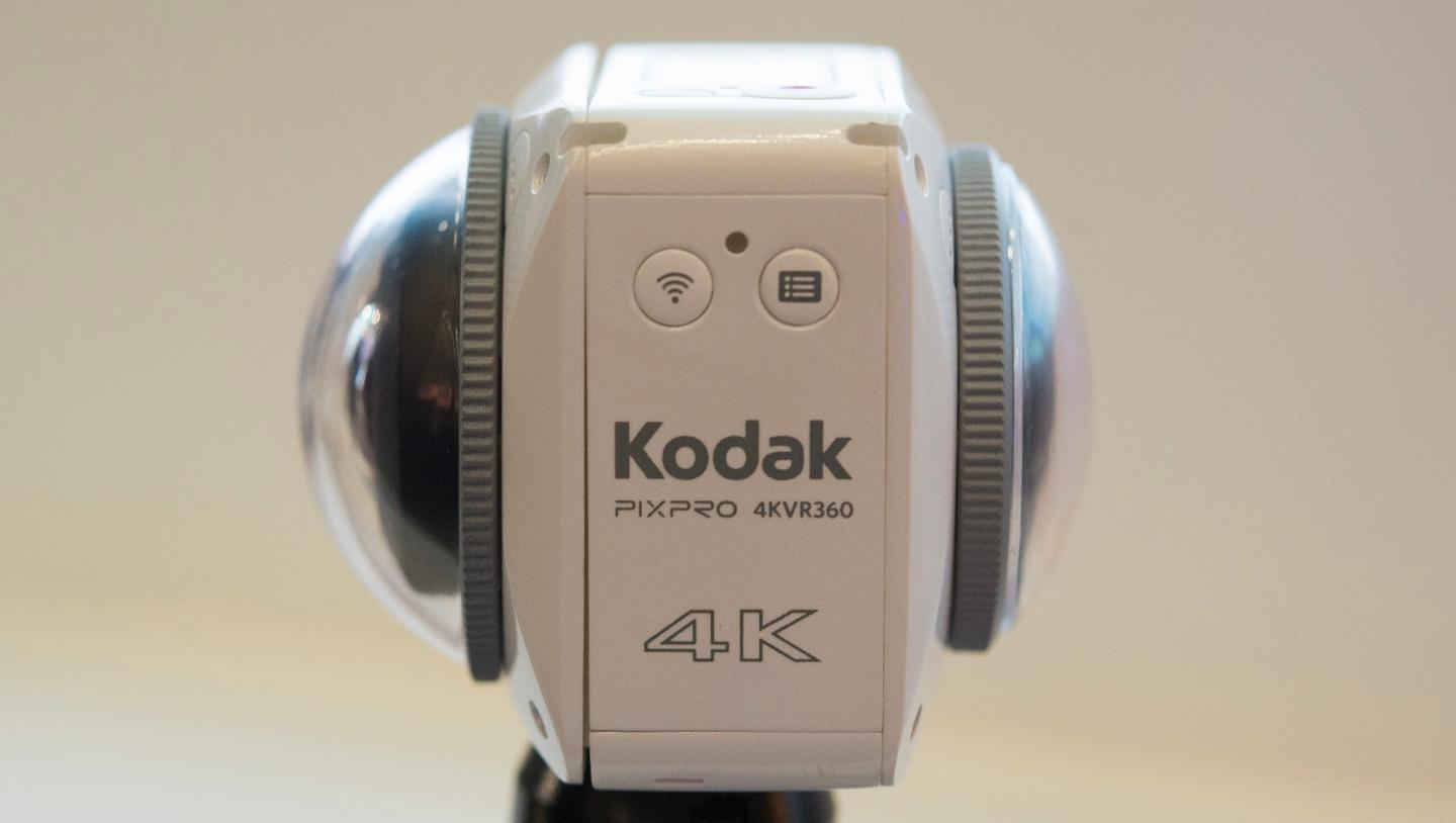 The Kodak PixPro 4KVR360 features a new dual lens design