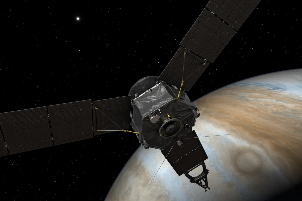 Juno is set to reveal the secrets of this beautiful gas giant (artist's depiction)