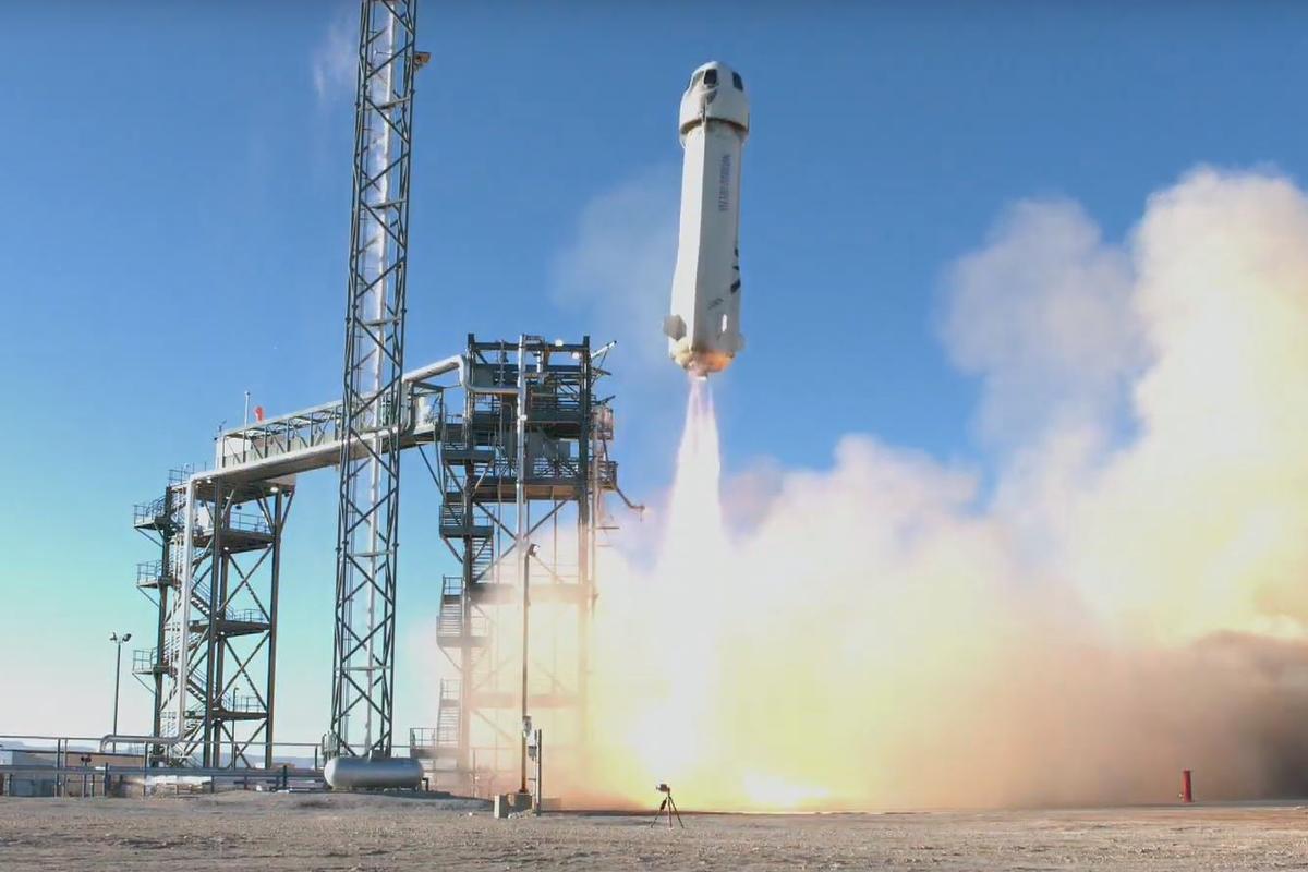 The 10th Blue Origin test flight gets underway