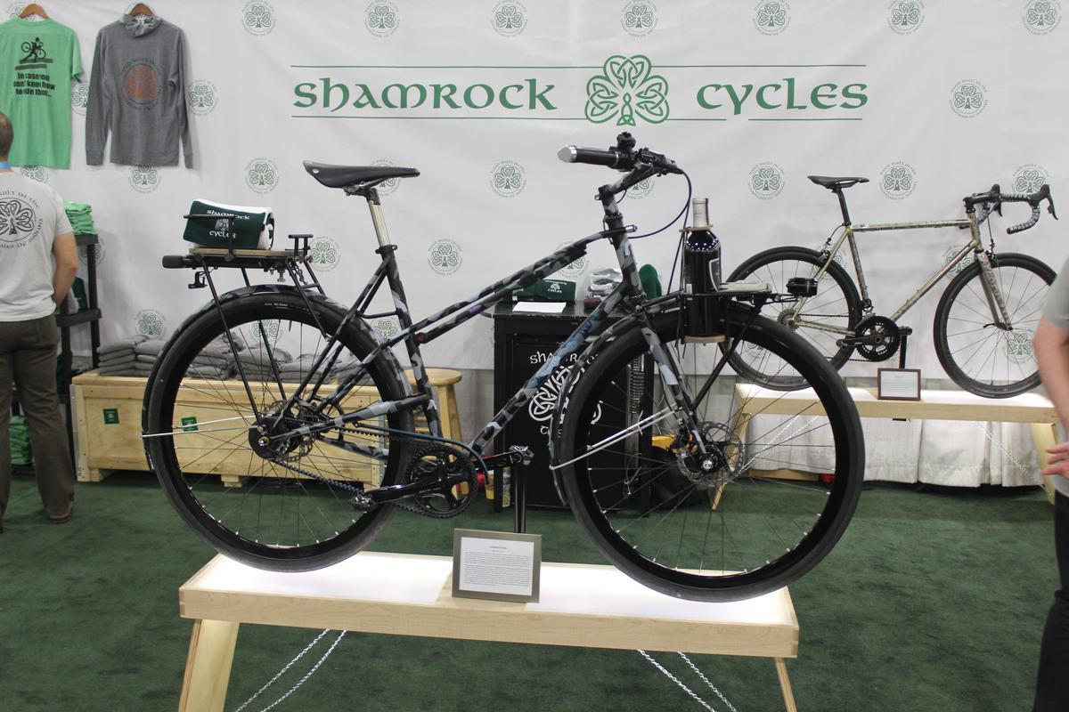 The custom bike on display in Salt Lake City