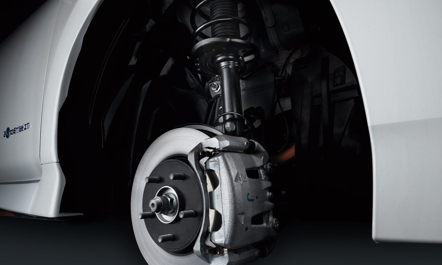 The NIssan Leaf Nismo sports customized suspension