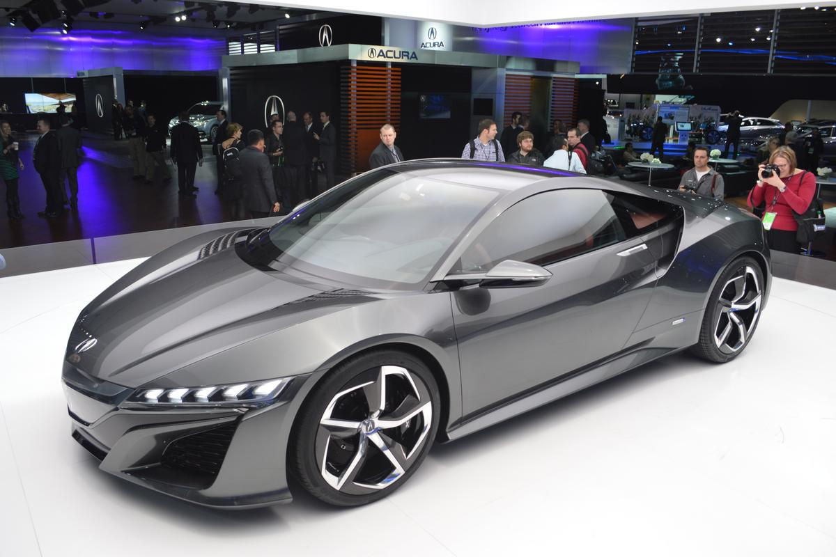 The 2013 Acura NSX Concept unveiled at NAIAS 2013