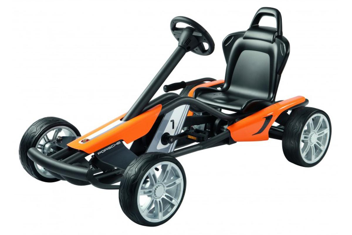 Porsche's new kid-specific Go-Kart weighs in at 55 pounds (25 kg) and can support future Schumachers up to 110 lbs (50 kg)