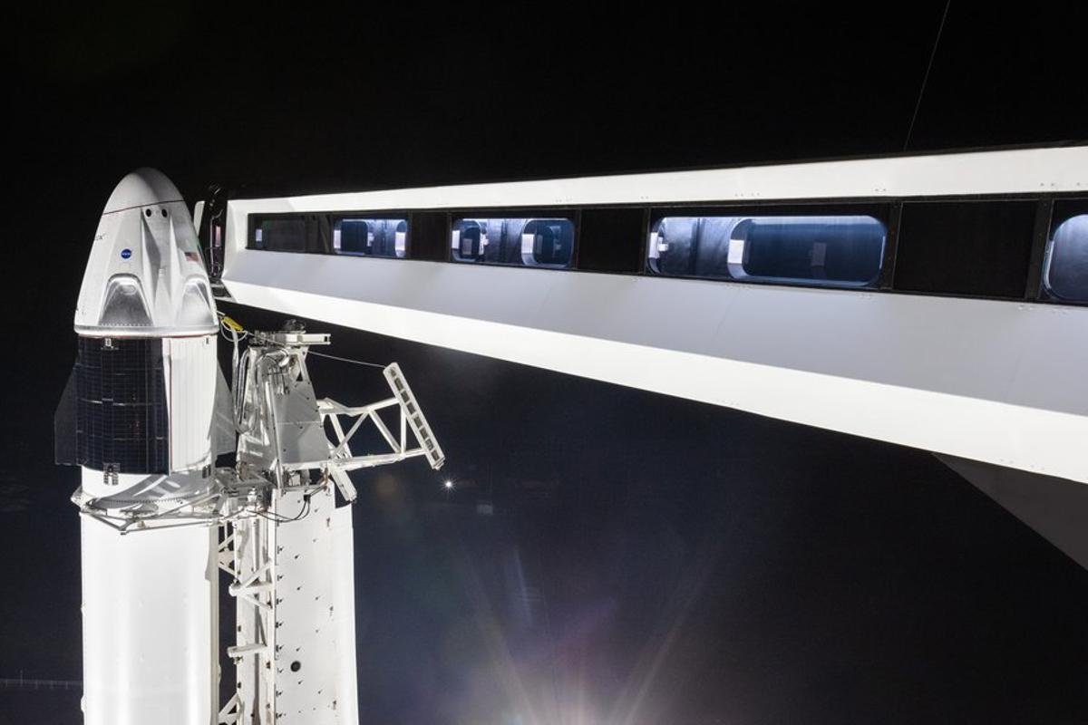 SpaceX has built a new walkway for astronauts to board its Crew Dragon capsule