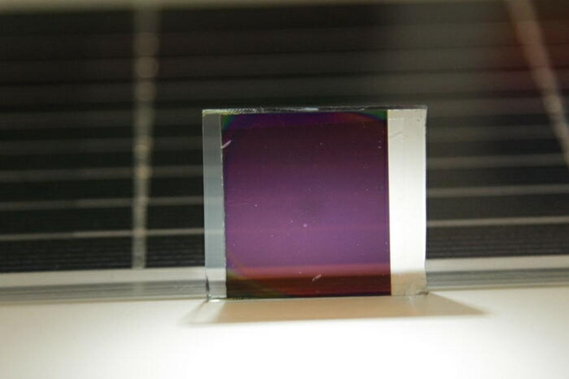 The semi-transparent, inexpensive solar cells have a claimed conversion efficiency of around 12 percent