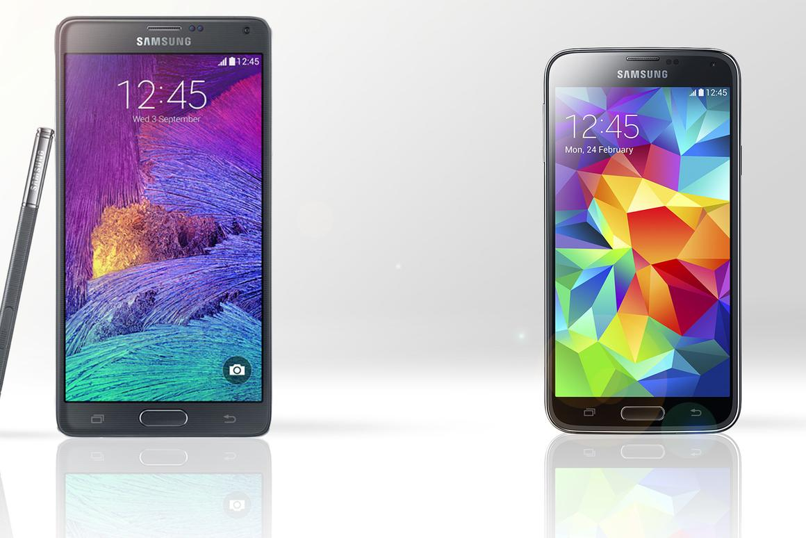 Gizmag compares the features and specs of the Samsung Galaxy Note 4 and Galaxy S5