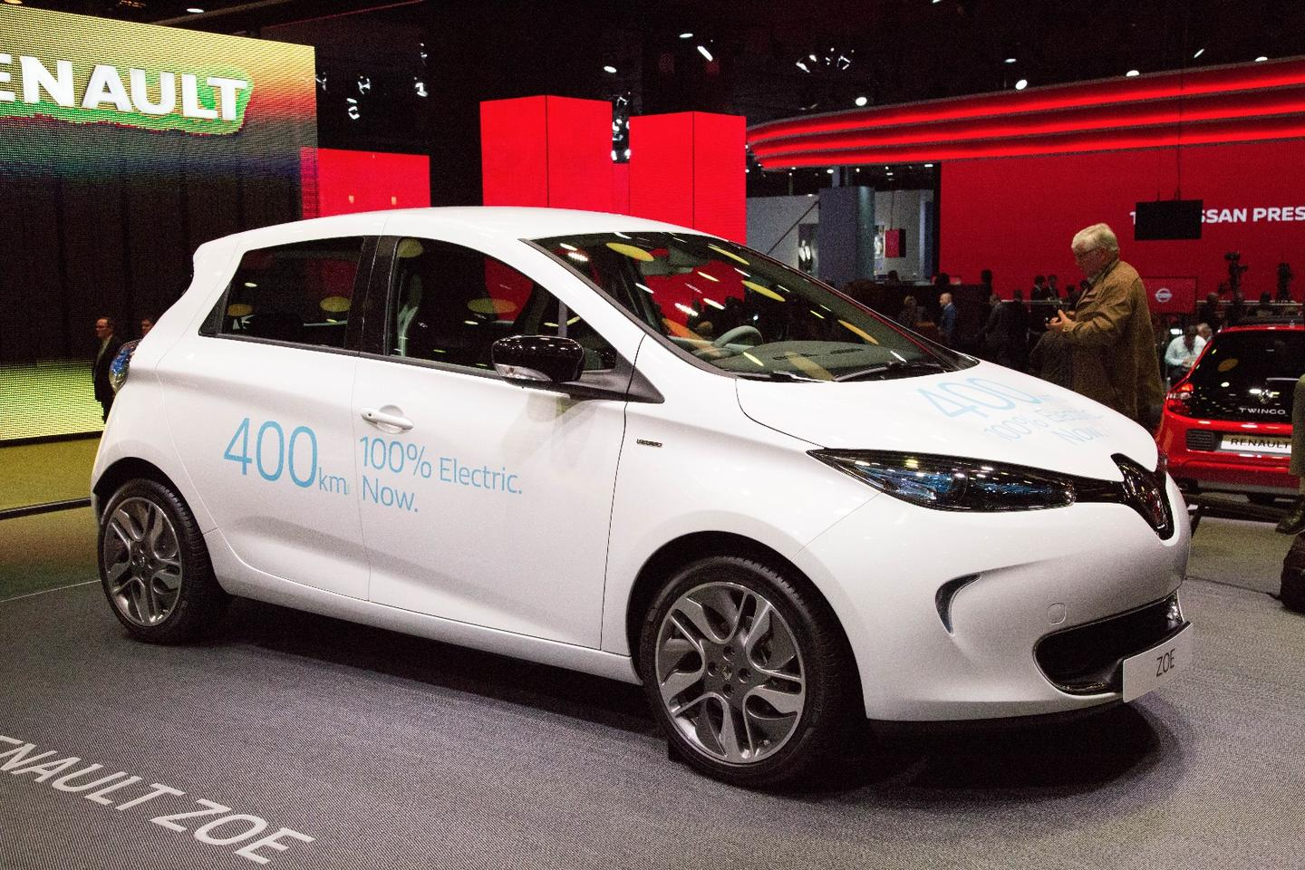 The new Renault ZOE at the Paris Motor Show