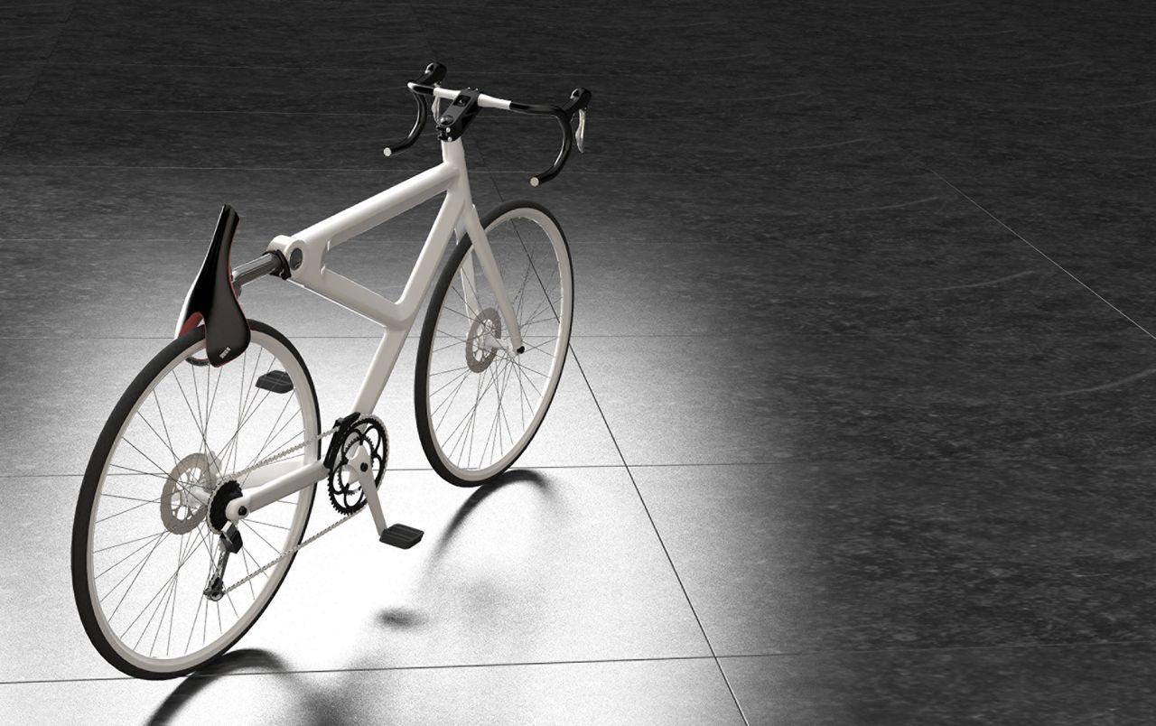 How a bicycle with Saddle Lock installed looks when the saddle is in place and secured to the rear wheel