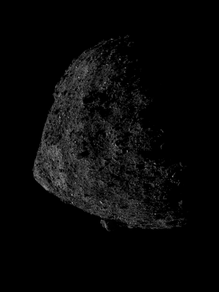 Image snapped shortly after OSIRIS-REx entered the Orbital B phase of its mission, from an altitude of 680 meters