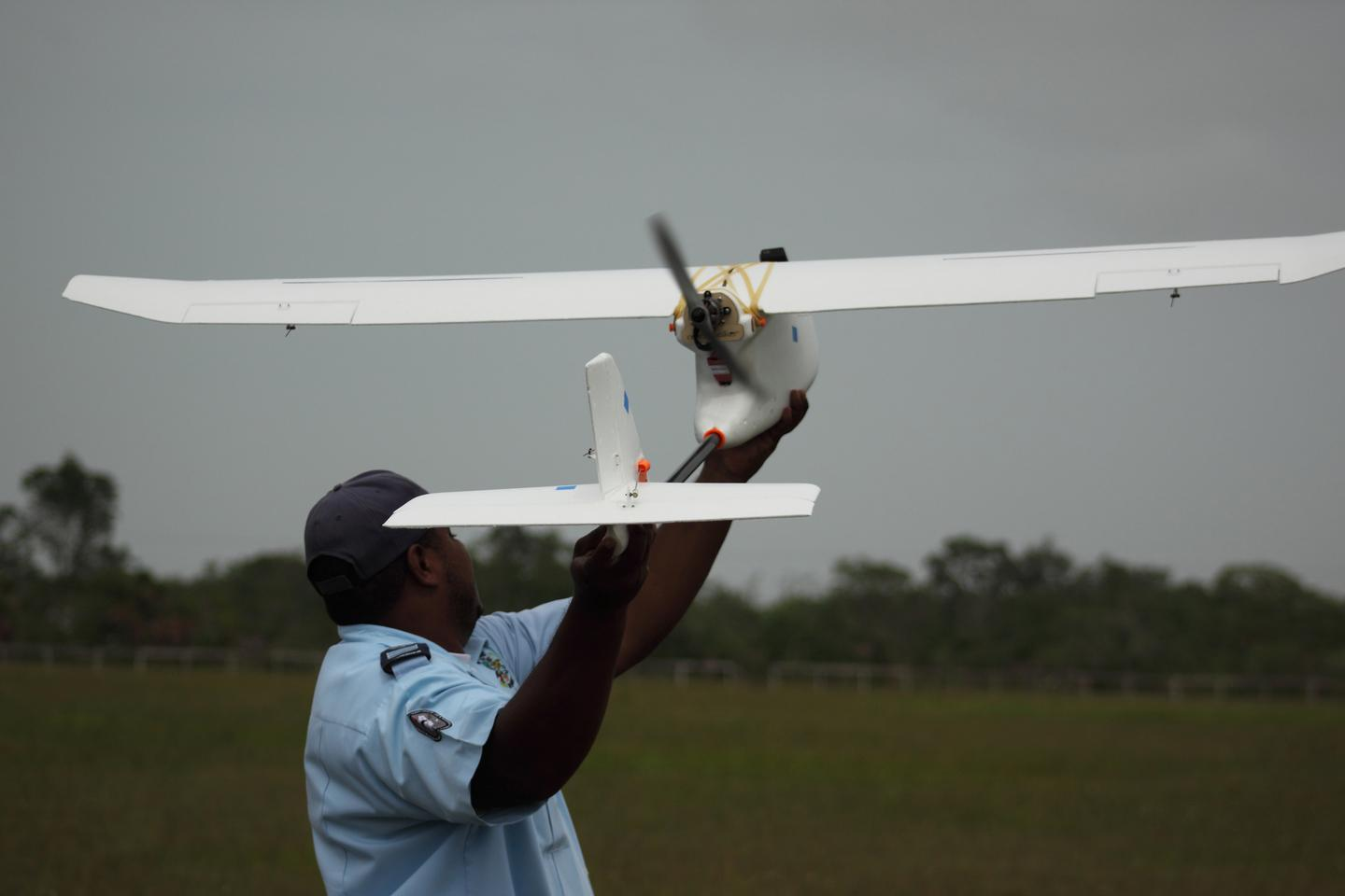 Capable of capturing high-resolution photo and video, the aircraft will enable government officials to monitor areas along the coastline that are often obscured by mangrove forests