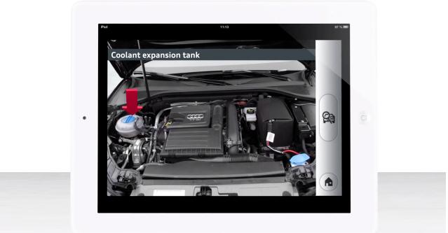 The eKurzinfo app can help you identify basic parts under the hood