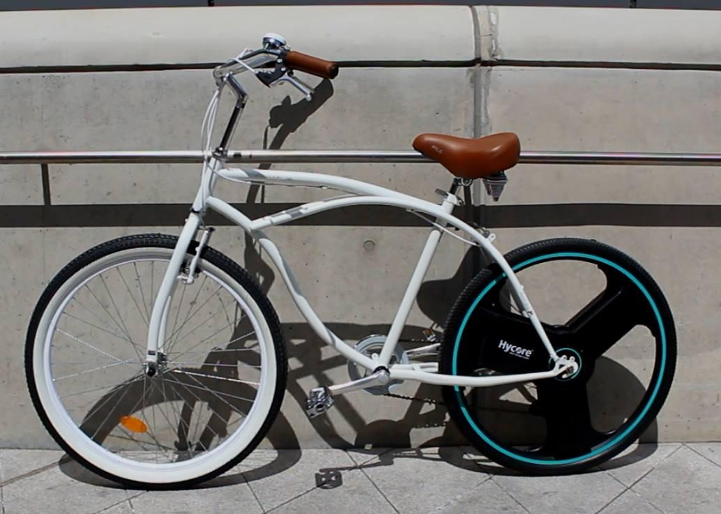 A Centinel Wheel-equipped bicycle