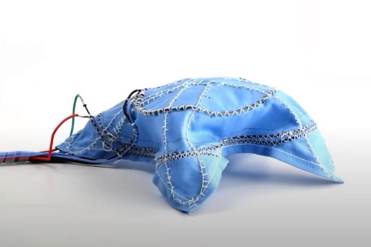 A team at Yale has developed a robotic fabric embedded with functional fibers