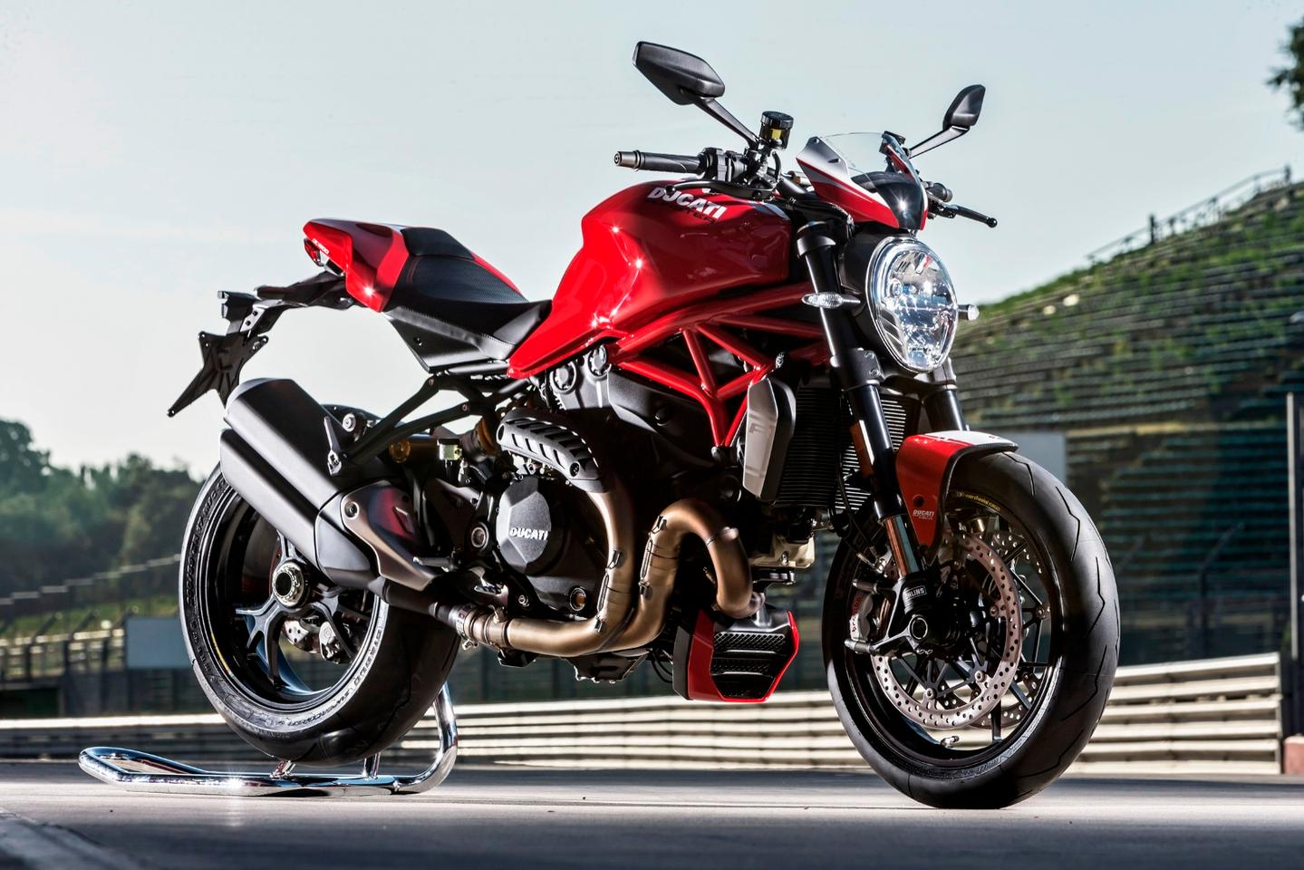 The 2016 Monster 1200 R in Ducati Red livery