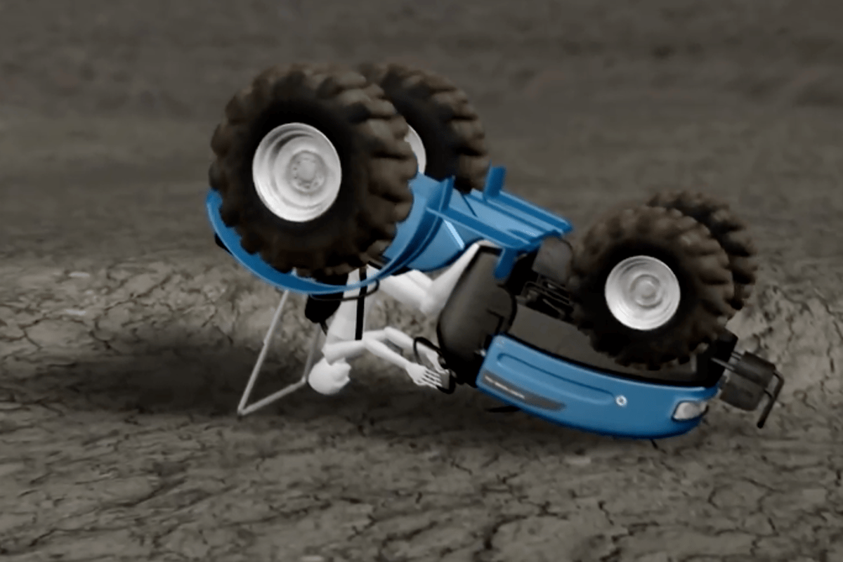Air-Rops is designed to keep farm workers safe in the event of a rollover